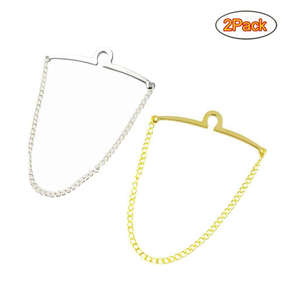 MeShow TCSHOW 2PC Classic Tie Chain Link Set Single Loop Waterproof Gift Bag