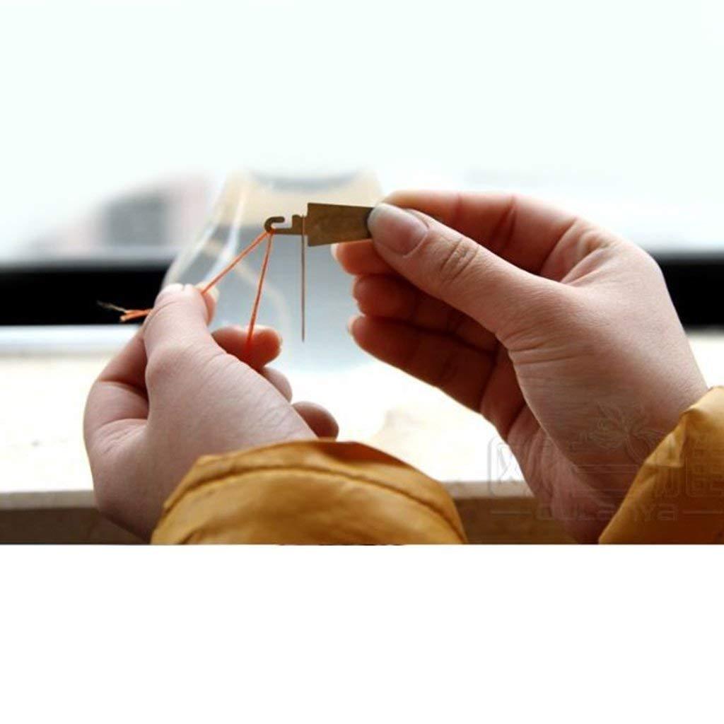 Point De Croix Aiguille Fileteuse En Acier Inoxydable DIY Artisanat Dispositif Aiguilles /À Coudre Fournitures De Couture Accessoire Guide de Fil Outil
