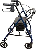 """Roscoe Medical RL-STBL Steel Rollator/Rolling Walker with 6"""" Wheels, 300 lb Weight Capacity, Blue"""