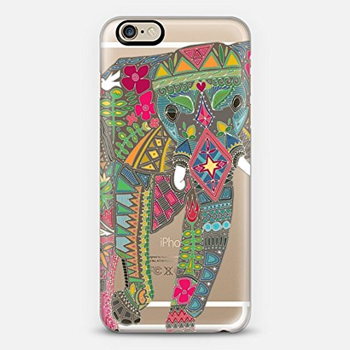 Casetify painted elephant transparent - iPhone 6 Case (Frosty White)