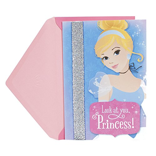 Hallmark Cinderella Birthday Card for Kids (Removable Headband) -