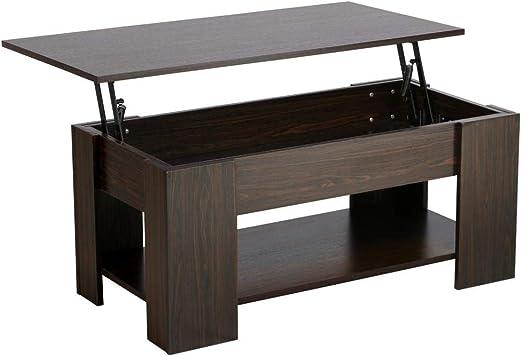 Yaheetech Grade E1 Mdf Iron Lift Up Top Coffee Table W