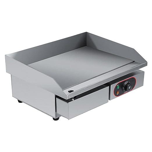 Plancha eléctrica Barbacoa, Plancha eléctrica Placa calefactora, freidora eléctrica tortitas Maker Placa calefactora fry-top Placa: Amazon.es: Hogar