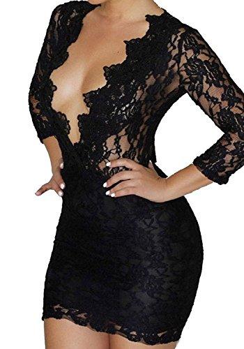 all lace dress black - 3