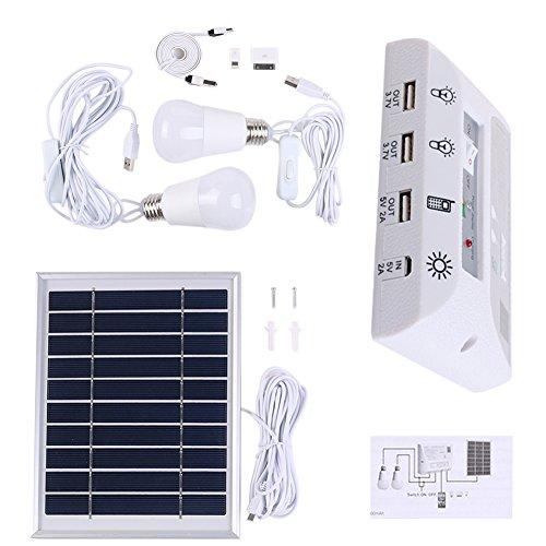 Solar lights - Portable Solar Panel Energy Kit Lighting System Night