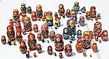 Set of 2 5-Pieces Cute Nesting Stacking Wooden Dolls Matryoshka Babushka Russian Art