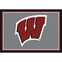 Wisconsin Badgers NCAA College Team Spirit Team Area Rugs