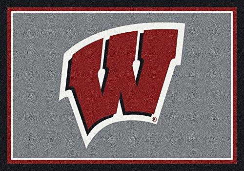 Wisconsin Badgers NCAA College Team Spirit Team Area Rug 5'4