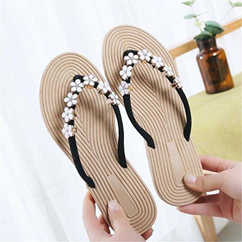 Flops Queena Flips Women Slides Platform Shoes Sandals Wedges Sandals Wheeler Black Woman Female Summer RxwItwCr