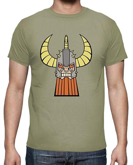 latostadora - Camiseta Vikingo Color para Hombre Caqui XL