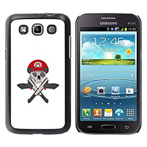 Paccase / SLIM PC / Aliminium Casa Carcasa Funda Case Cover - M Guns Game Pistols Skull White - Samsung Galaxy Win I8550 I8552 Grand Quattro