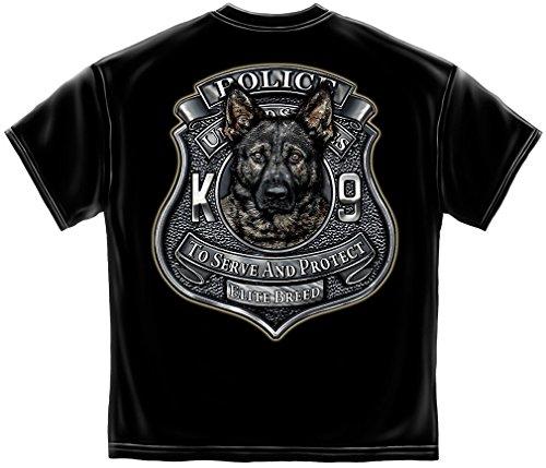 Law Enforcement T-Shirt Elite Breed K9 Police Large Black