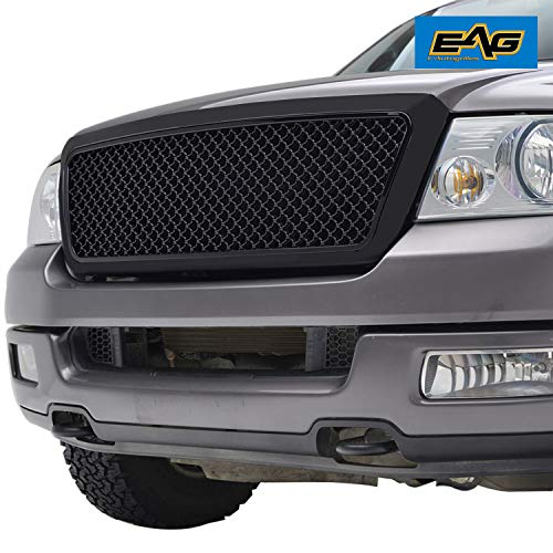 EAG Replacement Mesh Grille Upper Front Black Grill Fit for 2004-2008 Ford ()