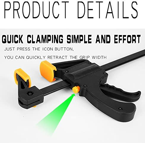 36 in. JCTKFTS 36-Inch Steel F-Clamp,Quick Release Ratchet Bar Clamp