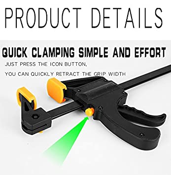 5 in mini. JCTKFTS 5-Inch Steel F-Clamp,Quick Release Ratchet Bar Clamp
