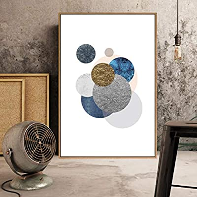 Quality Artwork, Stunning Picture, Framed Home Artwork Abstract Geometry for Living Room Bedroom