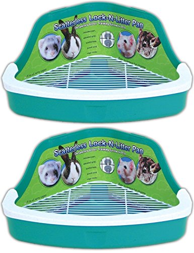 Ware Manufacturing Plastic Scatterless Lock-N-Litter Small Pet Pan, Pack of 2  (Colors May Vary) - Lock N-litter Pan