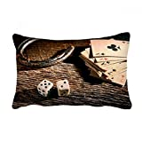 DIYthinker Dice Poker Gambling Photo Throw Lumbar Pillow Insert Cushion Cover Home Sofa Decor Gift