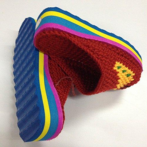 CWAIXXZZ pantoufles en peluche Chaussons en coton mâle et femelle avec sac à main chaussures coton automne hiver home belle chaussure chaude laine de base mousse chaussons ,44,45, fait main chaussons