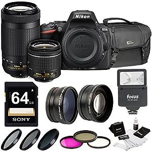 Nikon D5500 DSLR Camera with 18-55mm and 70-300mm Kit + Nikon Case + 64GB + Kit