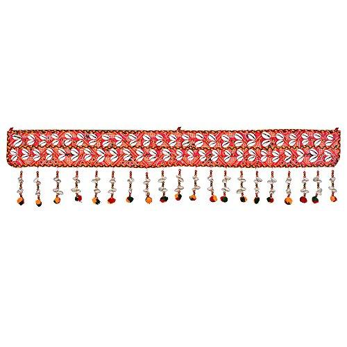 Jaipuri haat Kaudi and Red Cotton Made Door Toran Bandarwal for Home Décor
