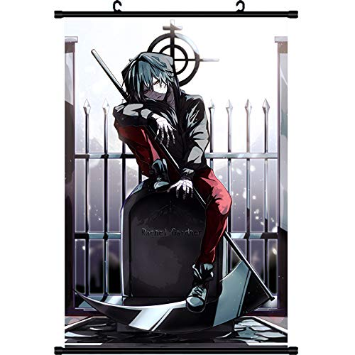 (MXDZA New Japanese Anime Angels of Death Fabric Painting Anime Home Decor Wall Scroll Posters for Decorative 40x60CM)