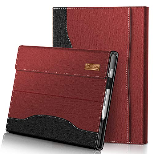 INFILAND Microsoft Surface Pro 7 Case Compatible with Microsoft Surface Pro 7/ Surface Pro 6/ Surface Pro 2017/ Surface Pro 4 12.3 inch Tablets, Dark Red