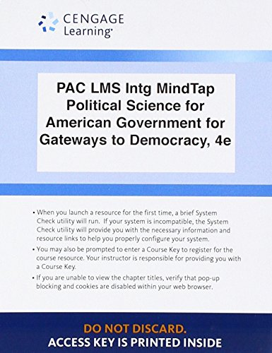 LMS Integrated for MindTap Political Science, 1 term (6 months) Printed Access Card for Geer/Herrera/Schiller/Segal's Gateways to Democracy, 4th