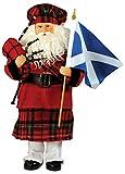 Santa's Workshop 9329 Scottish Santa Figurine, 15'' ,,