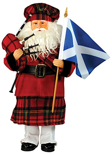 Santa's Workshop 9329 Scottish Santa Figurine, 15