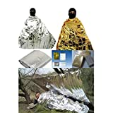 Joylive Emergency Rescue Thermal Foil Blanket Waterproof Survival 160cm x 210cm Golden