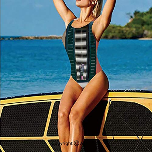 Charm Italian Fruit (Fashion Swimming Suit,Italian Stone House with Medieval and,High Cut Swim-Suit)