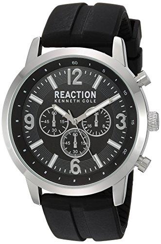 - Title:Kenneth Cole Reaction Men's Quartz Metal Case Silicon Strap Black Casual ,(Model:10030929)