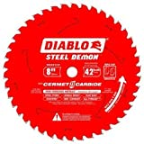 Diablo Steel Demon Cermet II Carbide Circular Saw Blade - 8in., 42 Tooth, For Ferrous Metals, Model# D0842CF