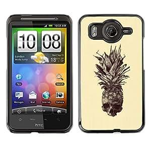 Caucho caso de Shell duro de la cubierta de accesorios de protección BY RAYDREAMMM - HTC G10 - Skull Tattoo Art Drawing
