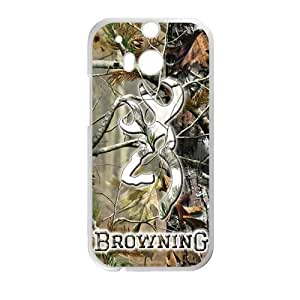 Canting_Good Browning Cutter Logo Real Tree Custom Case Shell Skin for HTC One M8 (Laser Technology)