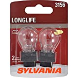 SYLVANIA - 3156 Long Life Miniature - Bulb, Ideal for Daytime Running Lights (DRL) and Back-Up/Reverse Lights (Contains 2 Bulbs)