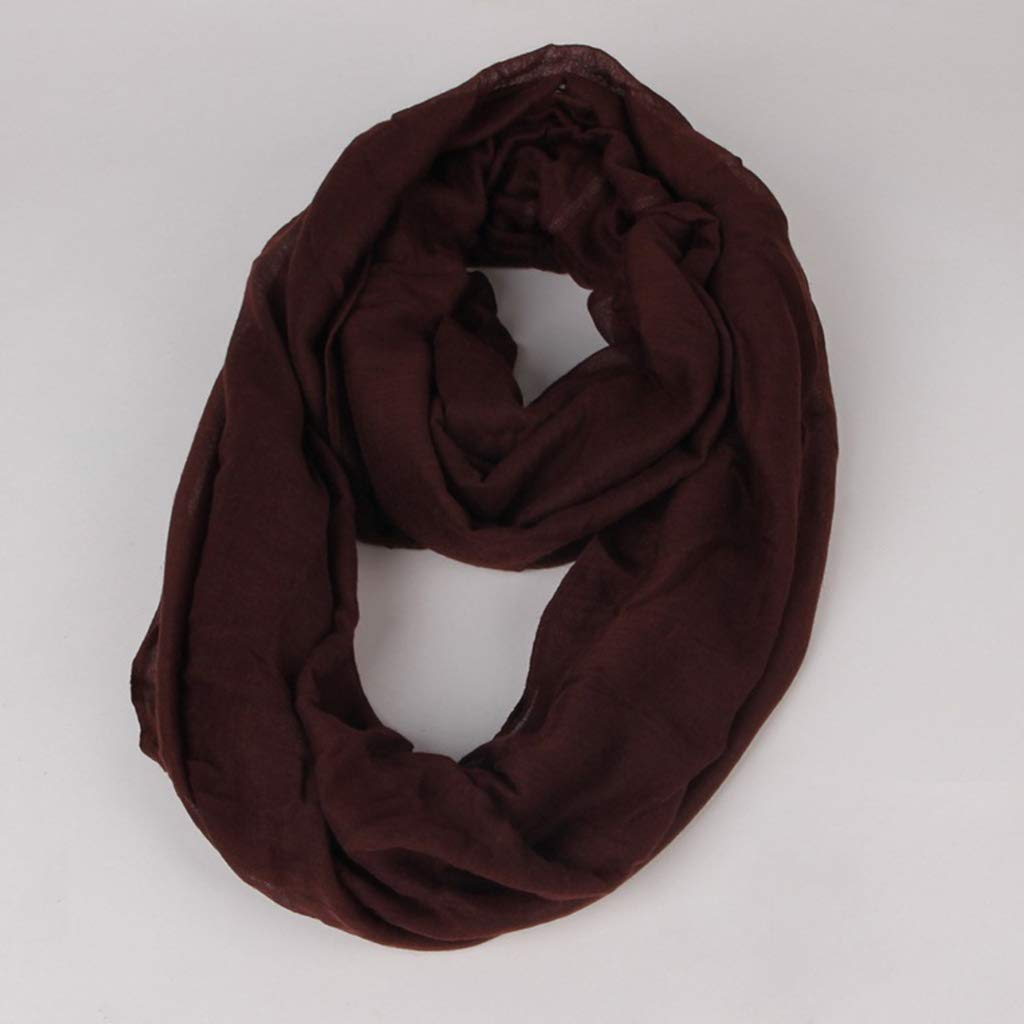 Sixinu Women Scarf Infinity Loop Ring Scarf Plain Loose Oversized Polyester Circle Neck Warmer