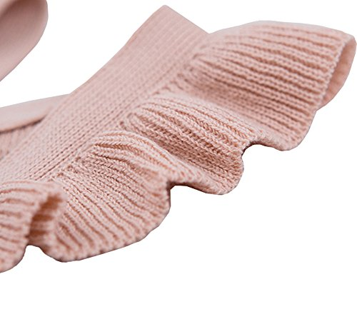 Chulianyouhuo Baby Girls Knitted Ruffle Cute Romper Cross Bandage Jumpsuit Bodysuit by Chulianyouhuo (Image #3)