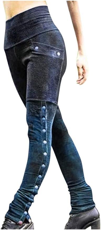 beautyjourney Pantalones Lápiz Vintage Mujer Pantalón con Remaches ...