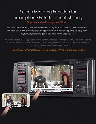 XTRONS 7 Inch HD Digital Touch Screen Car Stereo Radio In-Dash DVD Player with GPS CANbus for BMW 5 Series X5 Navigation Map Card Included by XTRONS (Image #5)