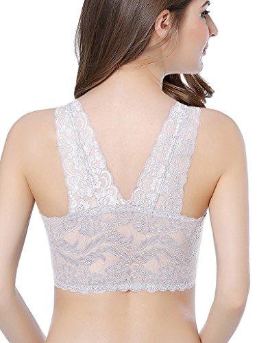 per Pizzo Portal Tasche Bralette Intimate Ferretto Dormire Senza Completa con in Bianco Donna nH4ndXqT8