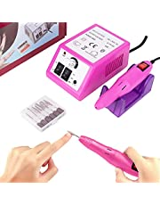 Professional Nail Drill Electric Nail File and Buffers 20000RPM Nail Manicure Pedicure Set Acrliyic Nail Kit Drill for Gel Acrylic Nails, Nail Art Drill Machine Portable Nail Polisher for Salon Home Use