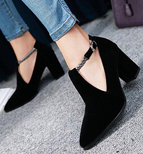Scarpe Da Donna Eleganti Con Cinturino Alla Caviglia Con Cinturino Alla Caviglia E Tacco Medio In Pelle Scamosciata Con Cinturino Alla Caviglia