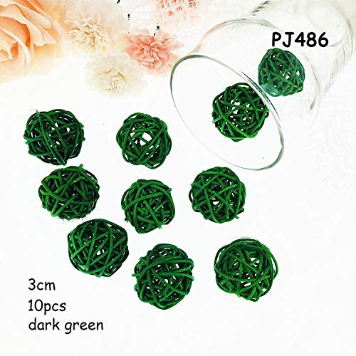 Miao Express 10pcs/lot 3cm Halloween Decoration Rattan Ball
