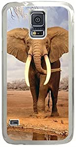 Animals & Birds Elephants Cases for Samsung Galaxy S5 I9600 with Transparent Skin
