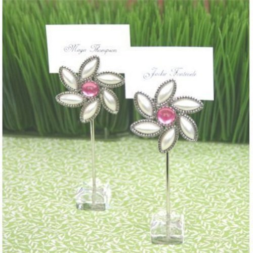 Love Blooms Flower Place Card Holders (set of (Blooms Reception Card)