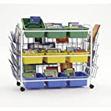 Copernicus Educational Product - BB005-9-1 - Cart Leveled Reading Book Browser - 9 Tubs With Display Racks