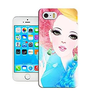 niucase big eyes beauty painting picture of vivid and attractive design TPU cases for Iphone5