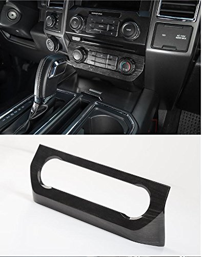 Nicebee Car AC Switches Panel Frame Air Conditioner Trim Cover Fit for Ford F150 2015 2016 2017 (Black Wood Grain)